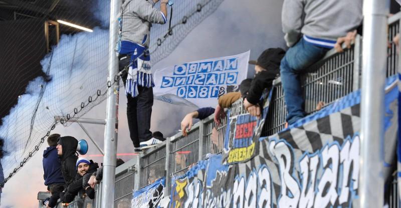 Fans des tsv 1860 münchen pyrotechnik fc ingolstadt 04 vs tsv 1860