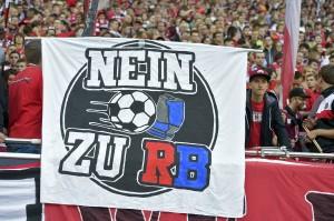Banner der Protestbewegung gegen RB Leipzig