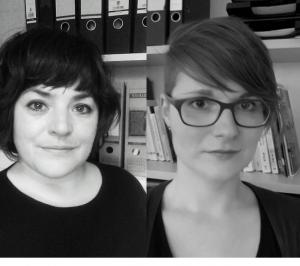 Stephanie Moldenhauer und Judith von der Heyden von der Universität Osnabrück